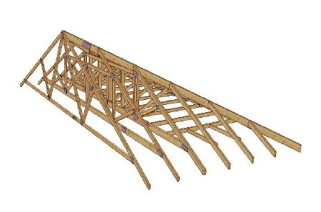 Trussed Rafters Designed And Manufactured By Gte Genesis